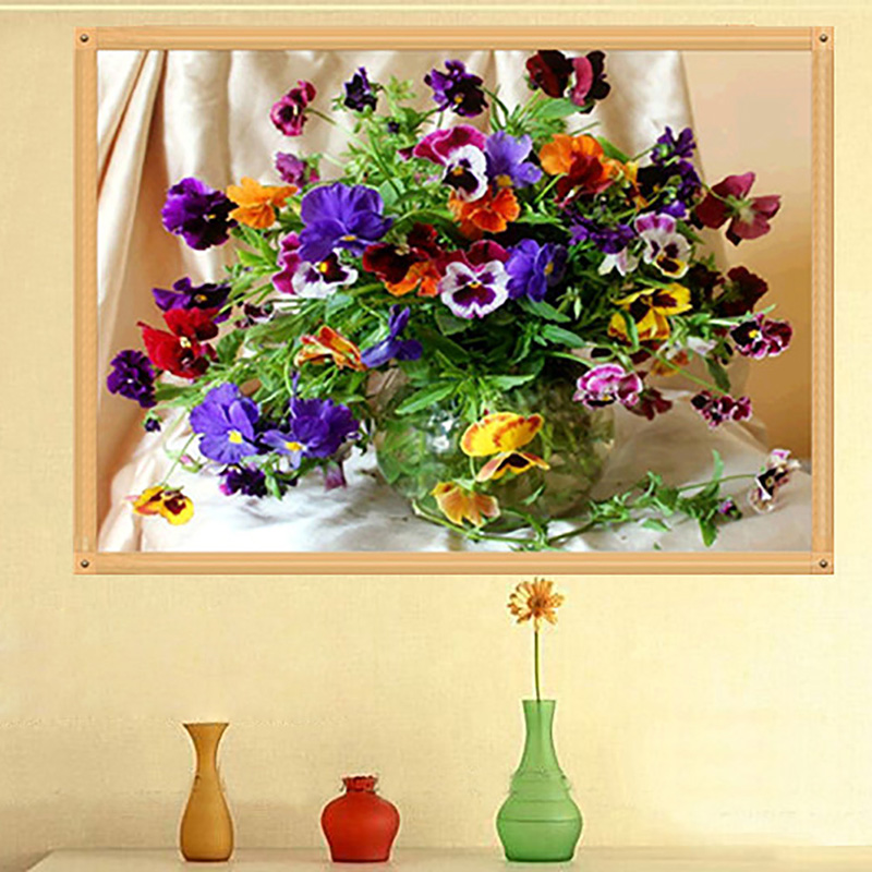 Home Craft Decor DIY 5D Diamond Embroidery Painting Flower Pastoral ...