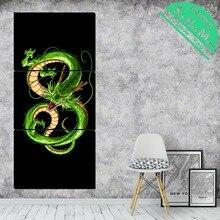 3 Шт. Зеленый Дракон Современная Настенная Живопись Плакат и Печать Картина Холст Картины Обрамленна