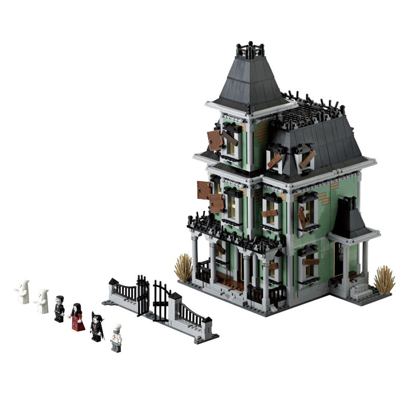 Haunted House Model Set Building LEPIN 16007 2141Pcs Monster Fighter Kits Model Toys for Children Compatible With 10228 2141pcs the haunted house model set building kits block toy 16007 diy monster fighter educational blocks toys for children