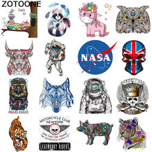 ZOTOONE Cartoon cute cat skull patch ironing transfer vinyl heat sticker T-shirt hot clothing press D
