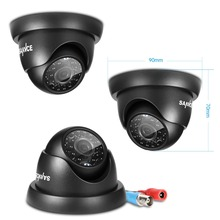 SANNCE 1PCS 720P dome Security Camera Outdoor Waterproof CCTV Surveillance Camera 1.0MP AHD CCTV Camera