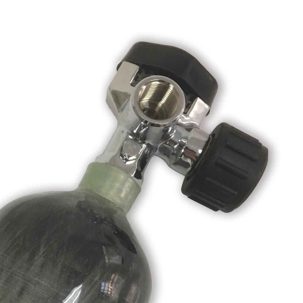 AC921 ACECARE New 30Mpa 4500psi SCBA Cylinder Valve Carbon Fiber Tank Compressed Air Cylinder Bottle Valve With Big Gauge