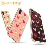 KINGXBAR For Apple Iphone X 8 8 Plus 7 7 Plus Case Heartbeat Series Authorized Swarovski