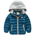 Retail 2016 New Kids Boys Winter Outerwear Hooded Coat Thick Wadded Jacket/Parkas Child Clothing Kids Downcoat Russian