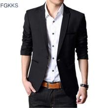 FGKKS מותג Mens חתונה חליפות סתיו גבר Slim Fit חליפות בלייזר Masculino שמלת חליפות גברים פורמליות חליפת סצנה