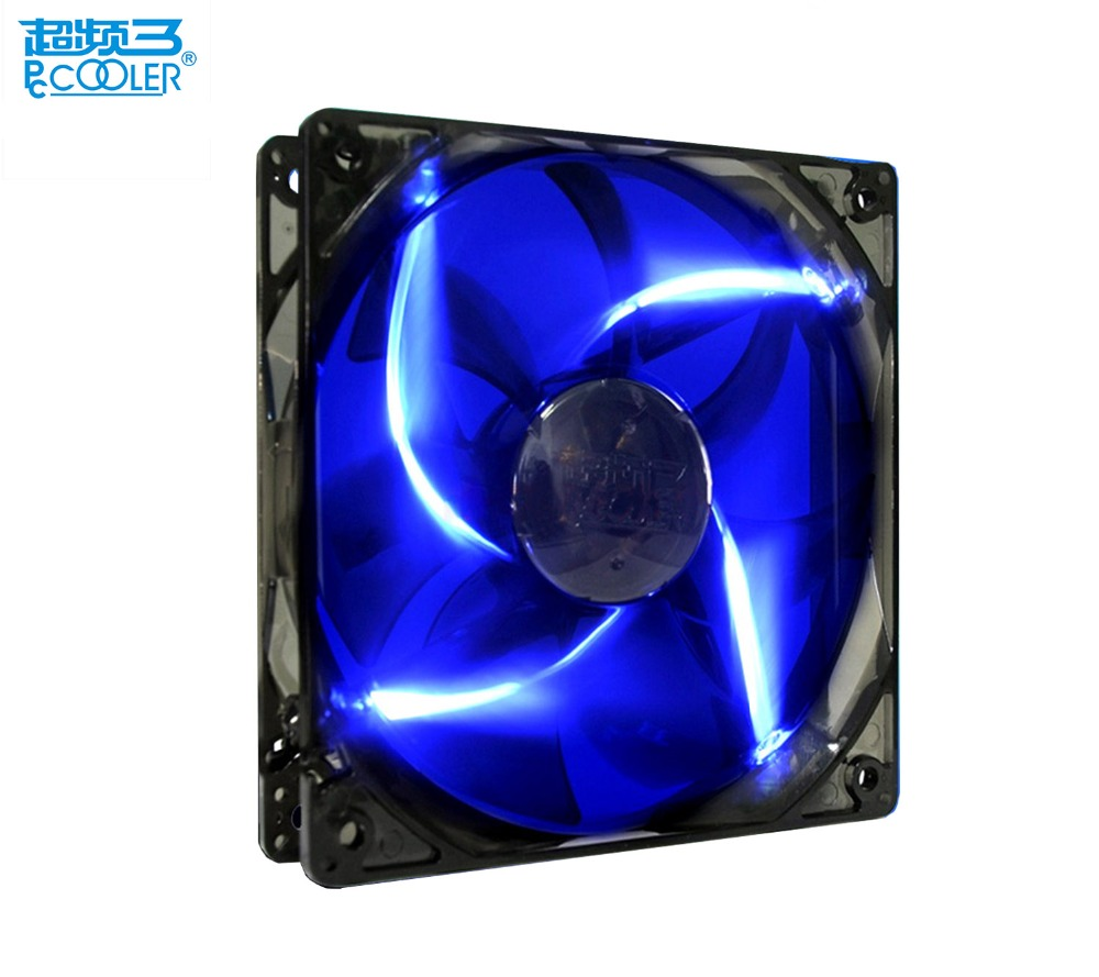 PCcooler 8cm LED computer case fan 80mm PC chassis fan utral-quiet detachable and washable 8cm cooling fan 8025 computer fan new original sanyo 9gl0812p1k05 12v 1 8a 80 80 38mm 8cm computer server cooling fan