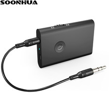 SOONHUA Mini 3.5mm Bluetooth Receiver Wireless Music Audio Receiver A2DP HiFi Stereo Dongle Adapter for iPod TV Mp3 Mp4 PC