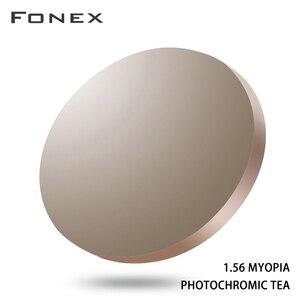 Image 1 - 1.56 1.61 1.67 ブルーレイ防止光変色cr 39树脂非球面レンズ、近視サングラスレンズ