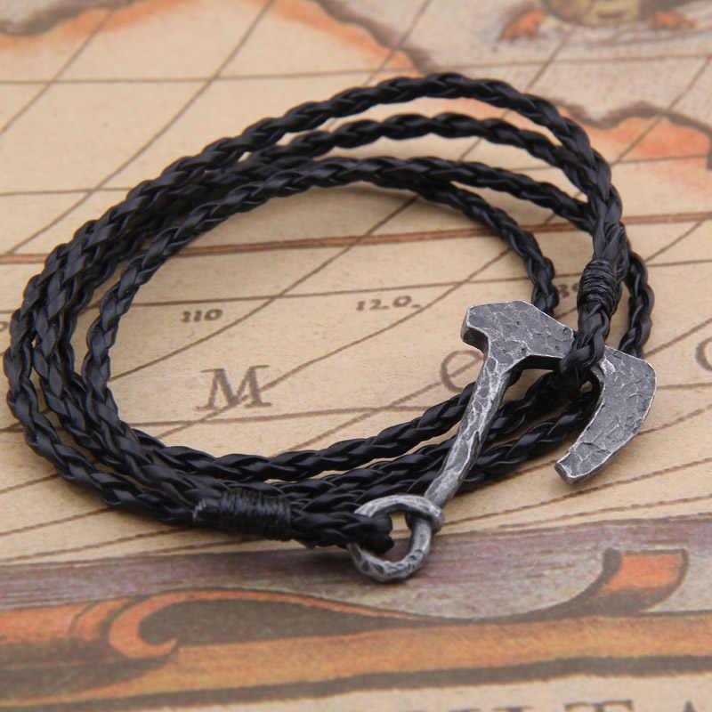 Naszyjnik męski skandynawska bransoletka wikingów Odin Symbol Norse Viking młot thora wojownik słowiańska norwegia Valknut