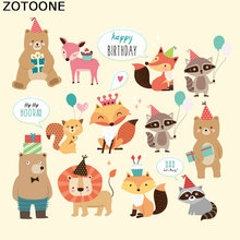 ZOTOONE Patches for Clothes Whole Animal T-shirt Dresses Sweater Decoration A-level Washable Heat Transfer Appliqued F