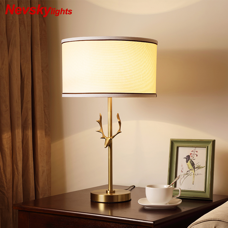 American Copper Table Lights Bedroom Lighting lampara led escritorio bedside lamp LED Bedside Hotel Study lampara mesa nocheAmerican Copper Table Lights Bedroom Lighting lampara led escritorio bedside lamp LED Bedside Hotel Study lampara mesa noche