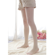 Sweet lace pantyhose Vintage tights elastic carved cutout velvet sexy 91112