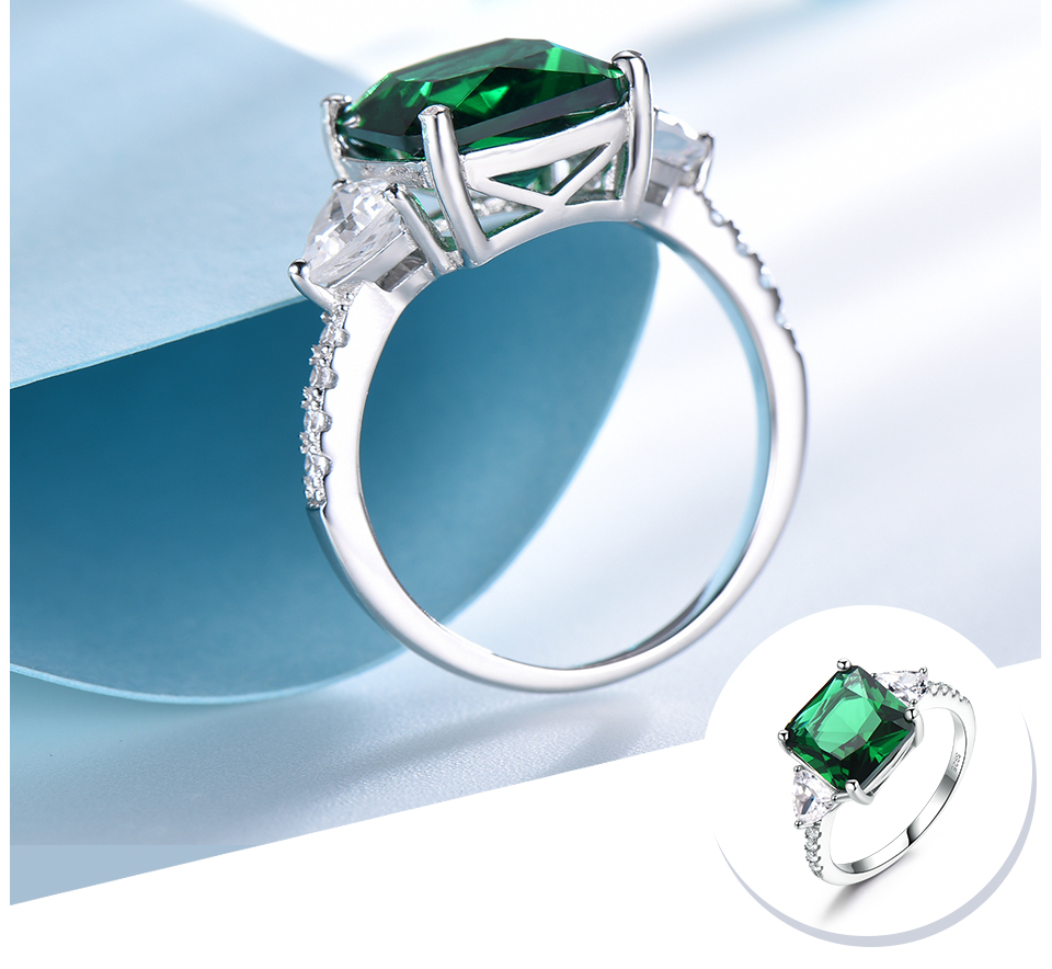 UMCHO Emerald  925 sterling silver rings for women NUJ092E-1 -pc (4)