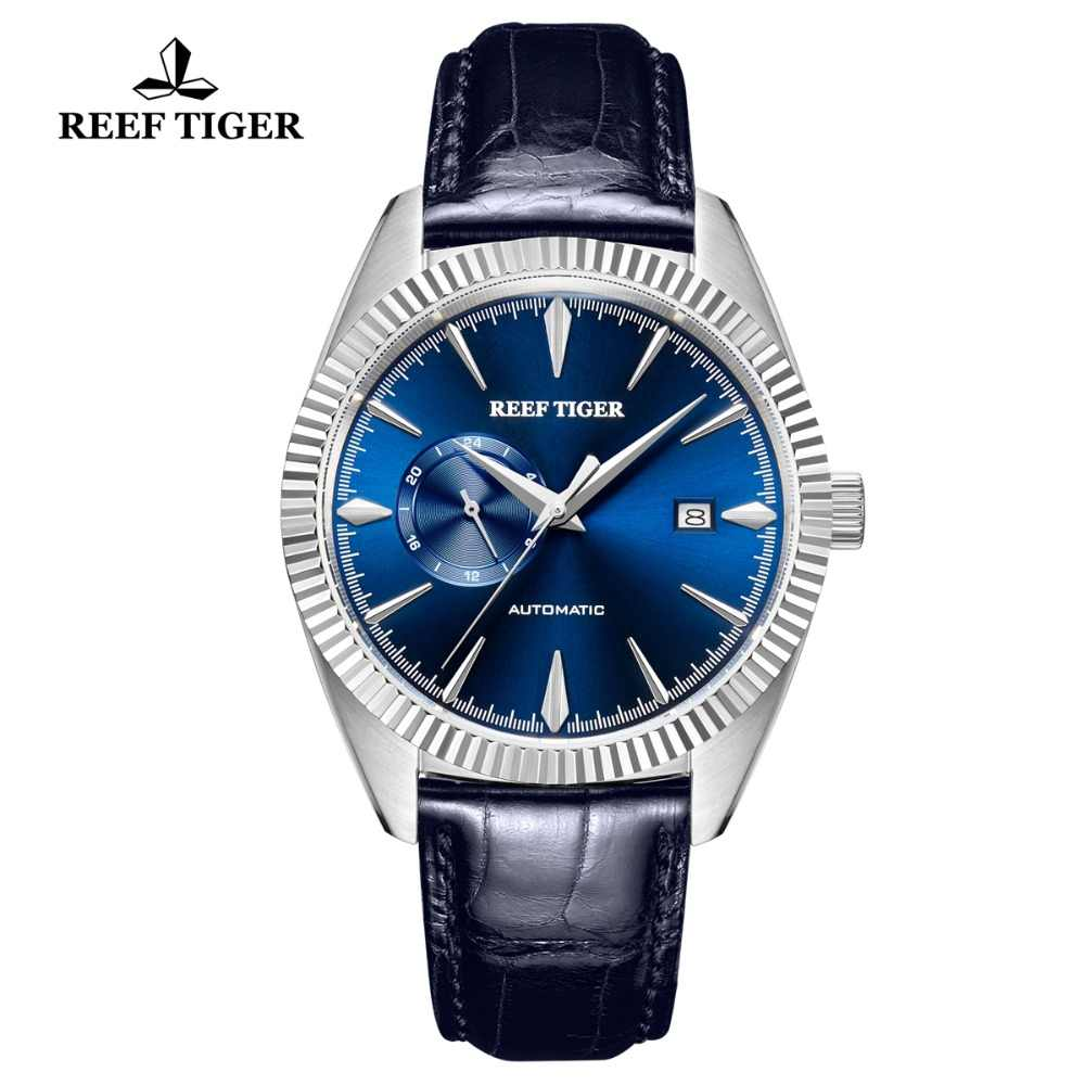 2019 Reef Tiger Automatic Dress Watch Men Top Brand Luxury Watches Reloj Mujer Genuine Leather Watch Relogio Masculino RGA1616
