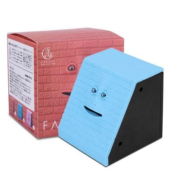Tirelire mangeuse bleue boite