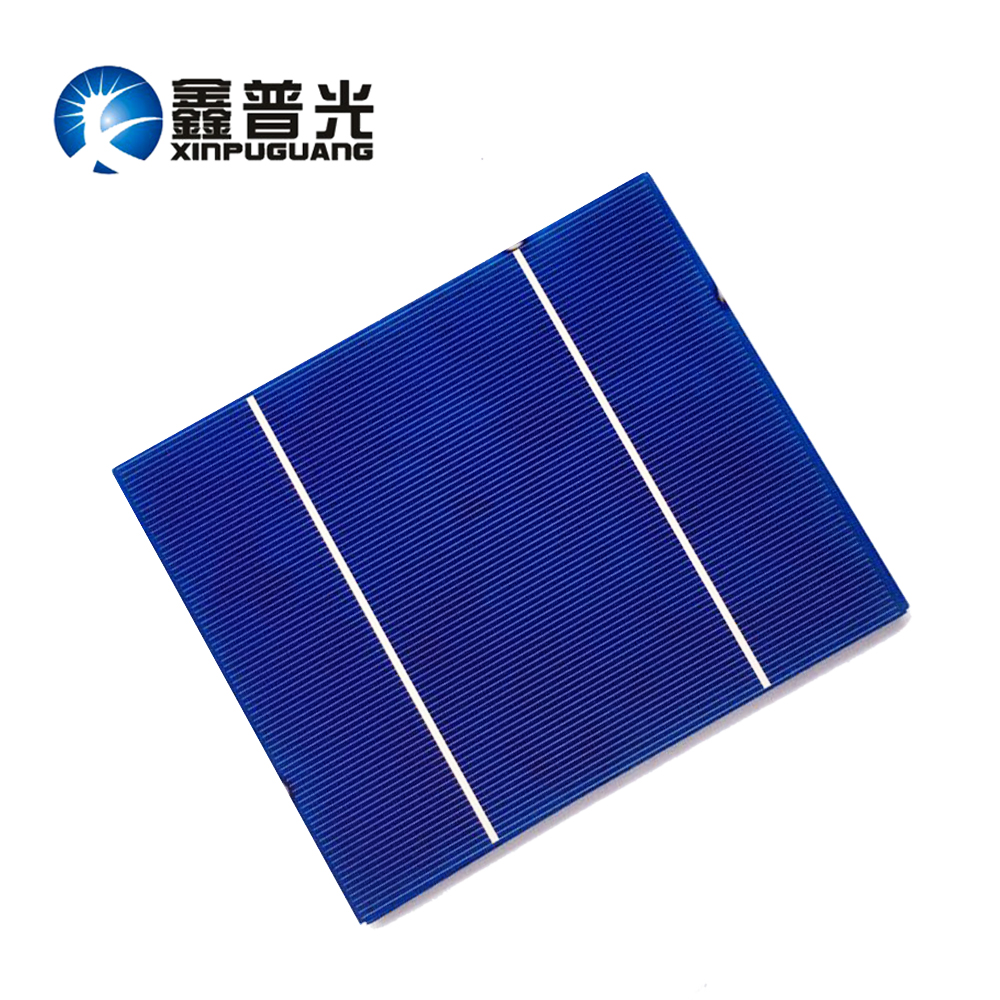 XINPUGUANG 10pcs 156*130MM 3.6W solar cell Polysilicon silicon PV module Photovoltaic 18% efficiency DIY solar panel 0.5v