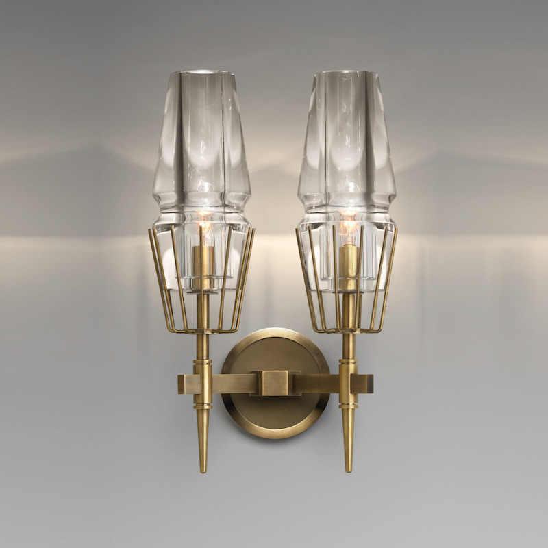 Скандинавский Лофт Франция дизайнер светодиодный настенный светильник в сдержанном стиле K9 кристалл гостиная гостиничный зал Романтический Настенный Бра Бесплатная доставка