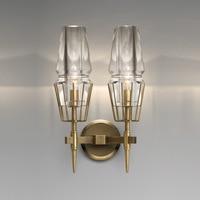 Nordic чердак Франция дизайнер светодиодный настенный светильник лаконичный K9 кристалл гостиная гостиничный зал Романтический Настенный Бра