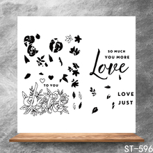 ZhuoAng Whisper of Love Transparent Seals for DIY scrapbooking photo album Clear Stamps 13*13cm