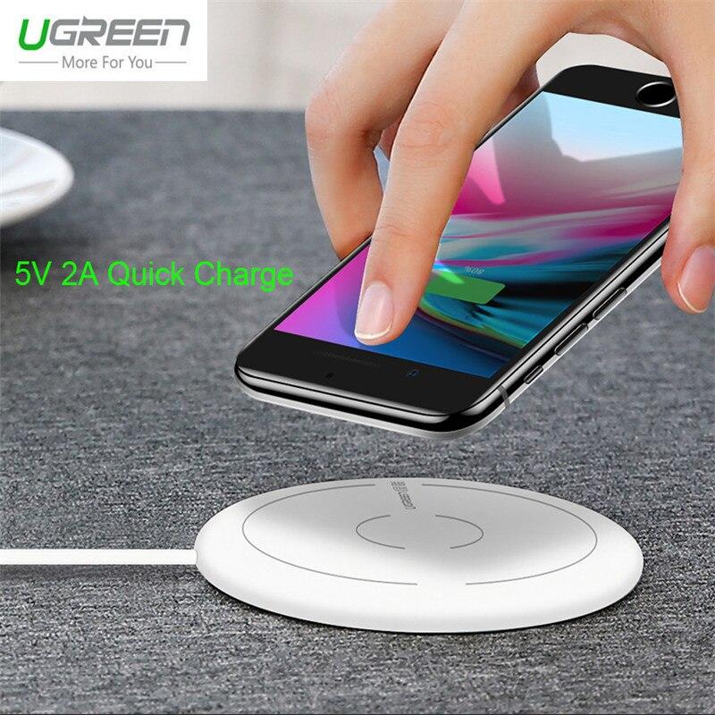Ugreen 5 V 2A Charge Rapide Qi Sans Fil Chargeur Pour iPhone X 8 Plus Rapide De Charge Pad Adaptateur Pour Samsung Galaxy S8 S7 S6 Bord S8 +