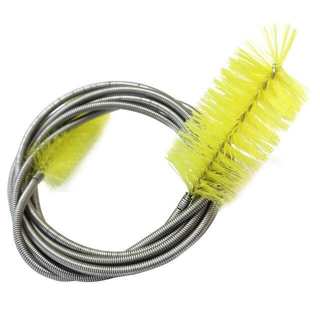 Аквариумный насос водяного фильтра из нержавеющей стали, воздушный шланг, пружинная щетка для очистки, гибкие двойные инструменты для мытья питьевой воды