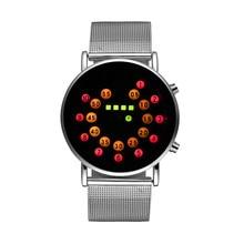 Personalidad de la Moda Reloj Binario LED Digital relojes de Pulsera de Los Hombres Reloj de Acero Completo Reloj de Hombre Reloj relogio masculino montre saat