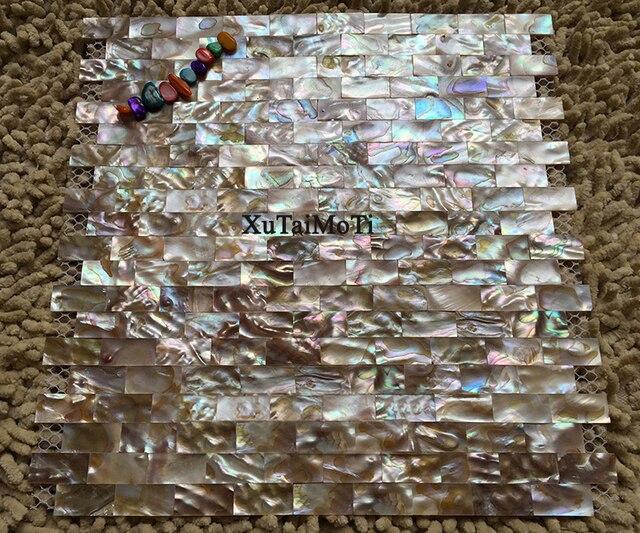 Striscia sinfonia naturale guscio colorato mosaico di madreperla
