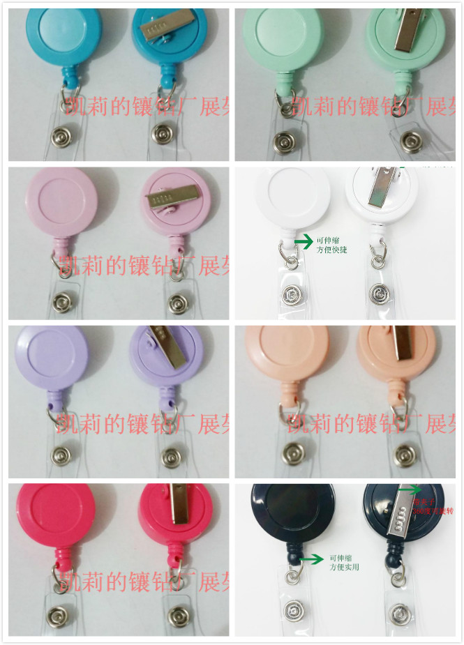Wholesales multi color of Retractable id badge reel with alligator clip 50pcs lot