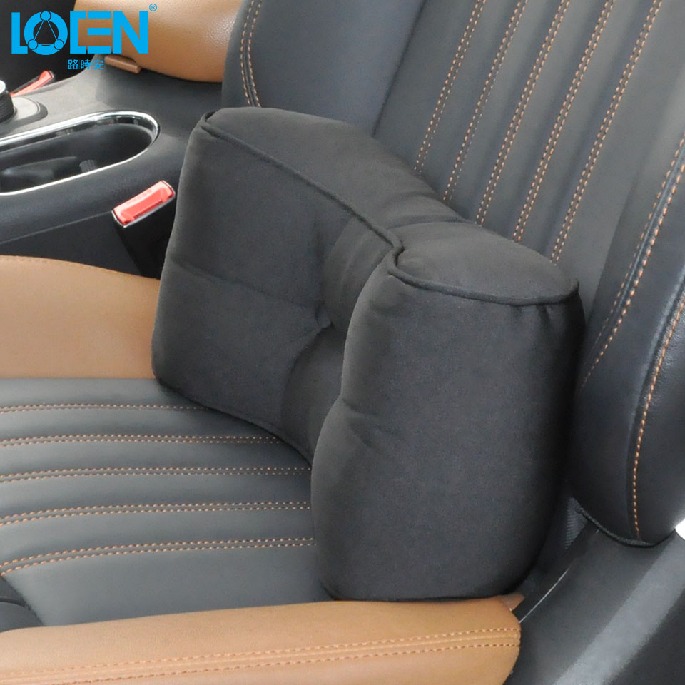 LOEN Dual Use! High Quality Winter Black Car Neck Pillow Lumbar/ Headrest Support with Super Rebound Latex for Universal Cars