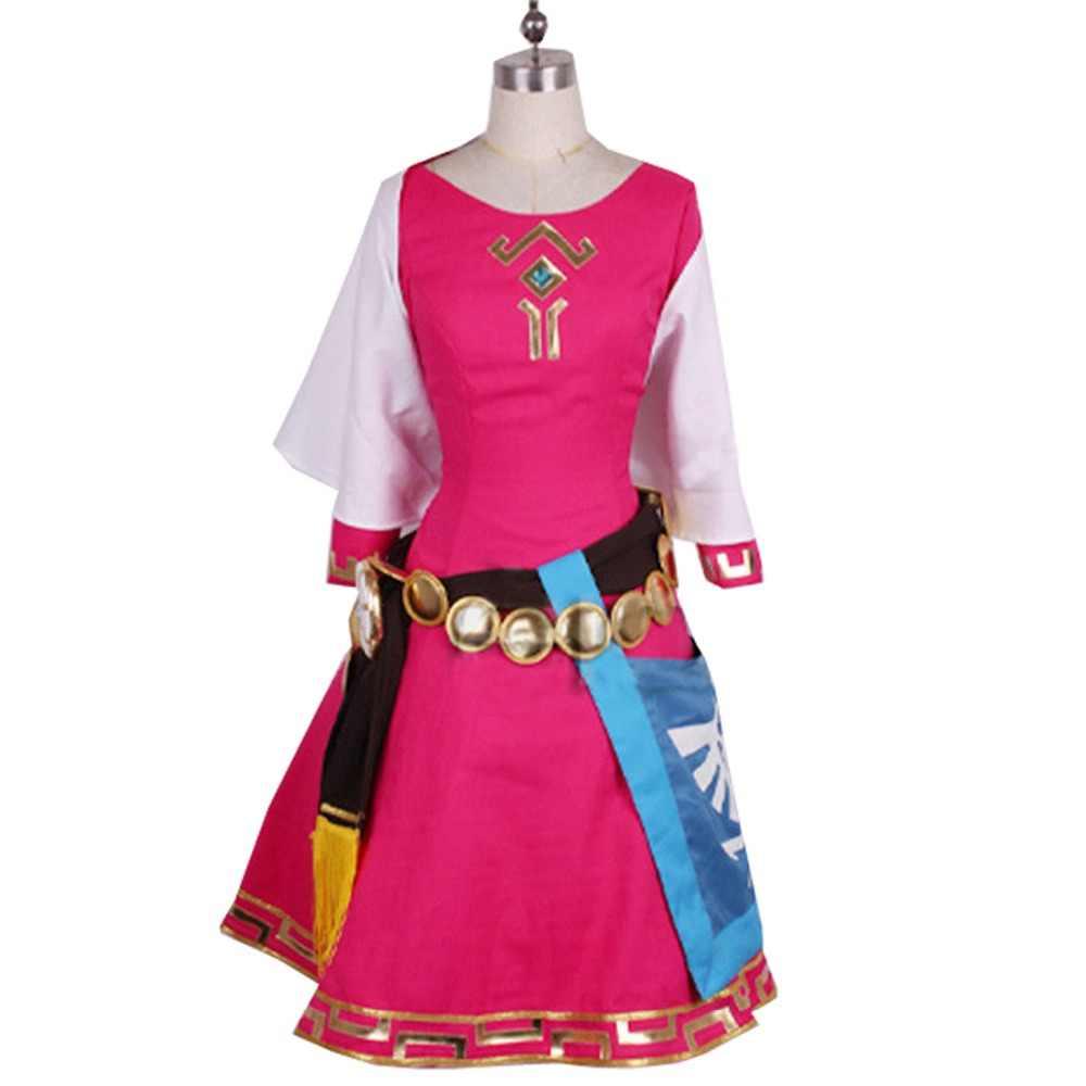 2019 The Legend Of Zelda Skyward Sword Zelda Women Cosplay Dress Princess Zelda Costume Christmas Adult Kids Costumes Custom