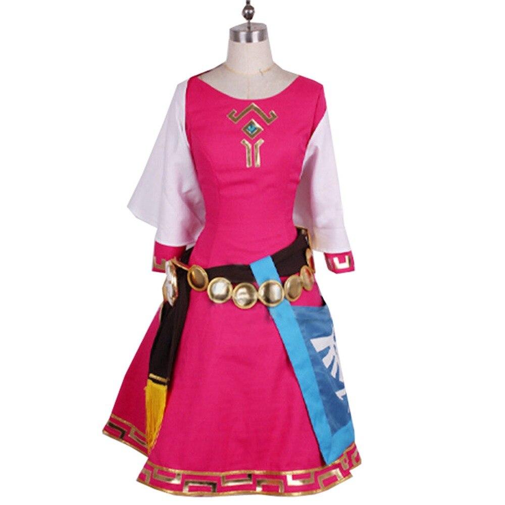 2019 The Legend of Zelda Skyward Sword Zelda Women Cosplay Dress/Princess Zelda Costume Christmas Adult Kids Costumes Custom