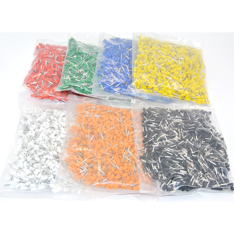 1000pcs <font><b>E1008</b></font> Insulated Cable Cord End Bootlace Ferrule Terminals tubular wire connector For 1.0mm2 Wire image