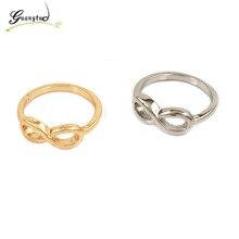 1Pcs Classic Transverse 8 Shape Alloy Rings For Men Women Wedding Jewelry Accessories Gift Bijoux Wholesales