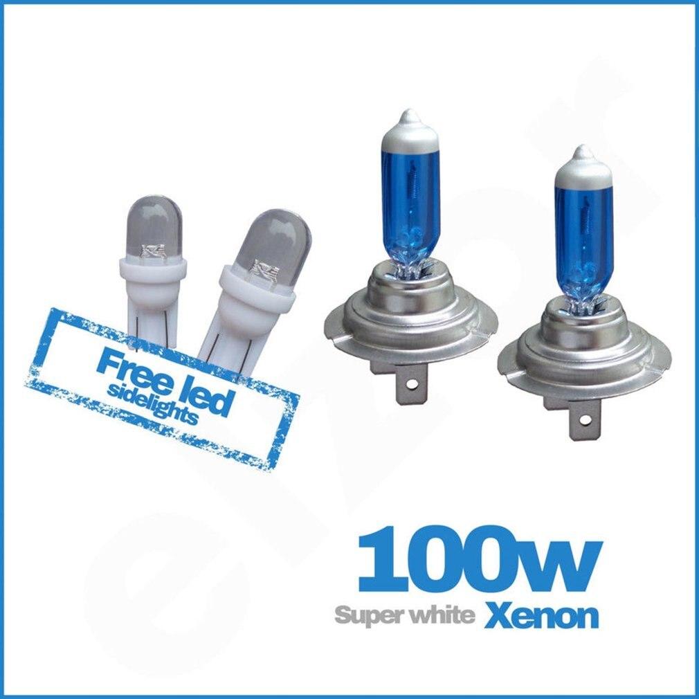 2Pcs H7 100W High Quality Halogen Bulb Auto Car Headlights Xenon H7 100W Ultra-white Light Vehicle Headlamp Replacement