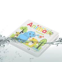 Waterproof Baby Water Bath Books Toy Swimming Bathroom bath Early Learning cute Animal Food Educational Toys for children Kids(China)