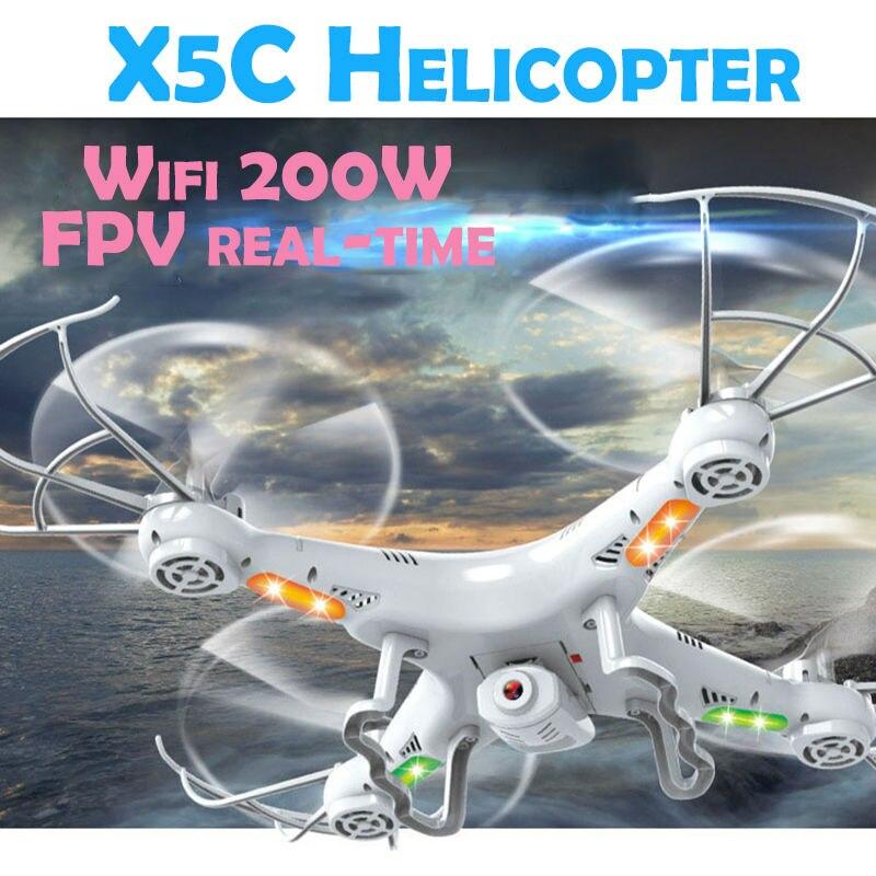Вертолет нмиц x5c-1 FPV-системы в реальном времени 2mp Wi-Fi пульт дистанционного управления Quadcopter Дрон с камерой 2.4 ГГц 4ch игрушка дроны com камера HD