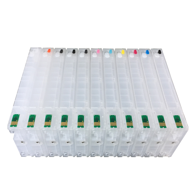 11color refillable ink cartridge empty 4910 Inkjet cartridges for Epson 4910 large format printer with ARC chips on high quality 5 pcs with chip and resetter refillable 7700 9700 ink cartridge for epson 7700 9700 large format printer