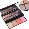 New PRO 20 Color Makeup Set 16 Color Eyeshadow Palette 4 Color Blusher Make up Palette Set Beauty Cosmetics Free Shipping