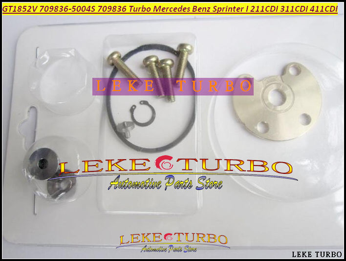 Free Ship Turbo Repair Kit Rebuild GT1852V 709836-0004 709836 0001 For Mercedes Benz Sprinter I 211CDI 311CDI 411CDI OM611 2.2L