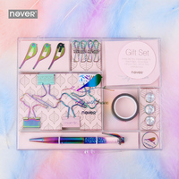 Never Fly Bird Series Gift Stationery Sets Paper Clips Binder clip Sticky Note Pen Gift Box Package For Teachers School Supplies