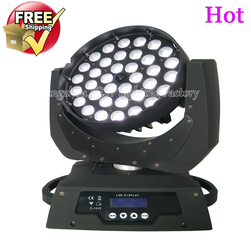 free shipping led wash zoom moving head light 36x12w rgbw 4in1 dmx stage light wash moving heads