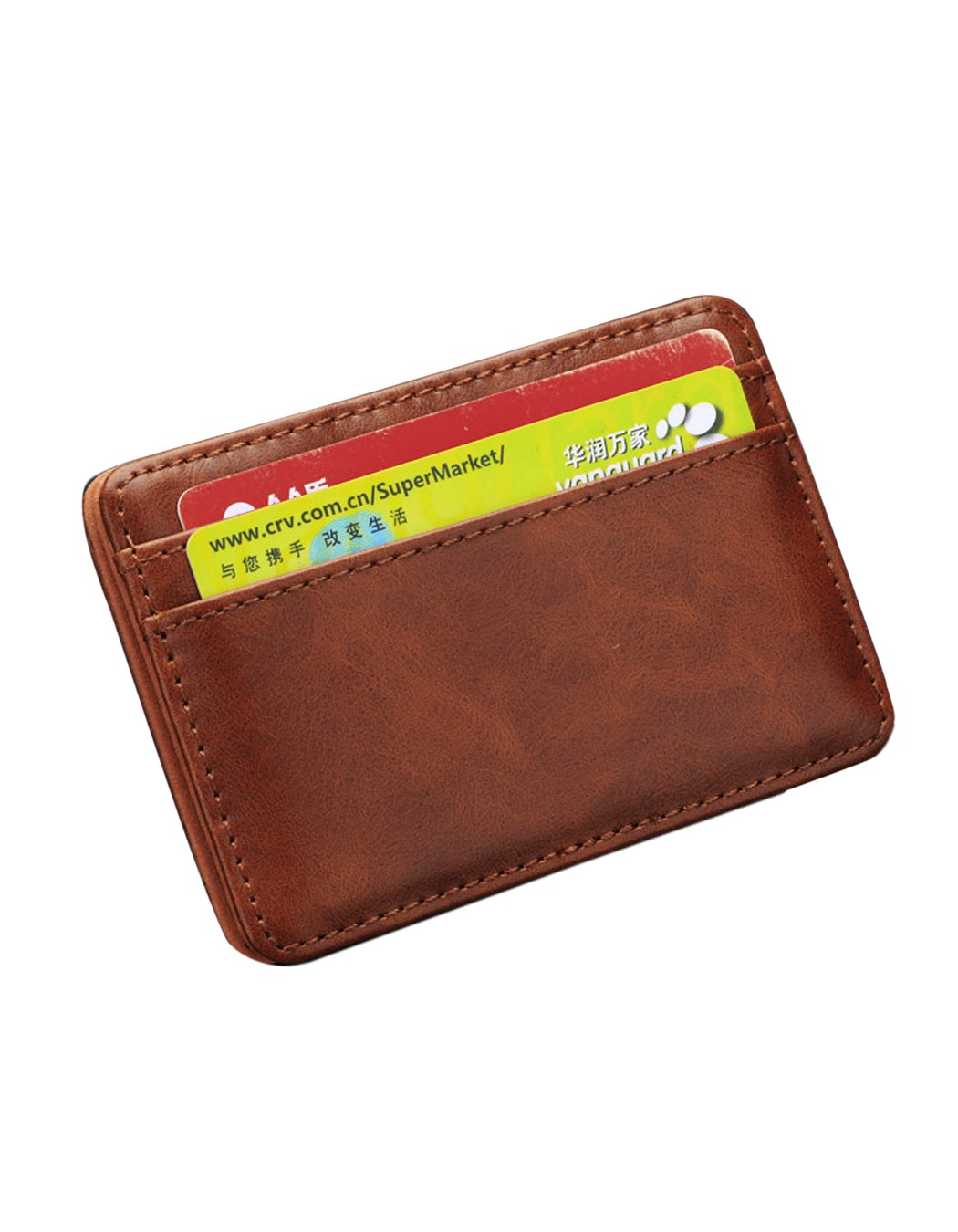 Magic Chic Money Clip Slim Mens Wallet ID Credit Card Holder Case Leather one