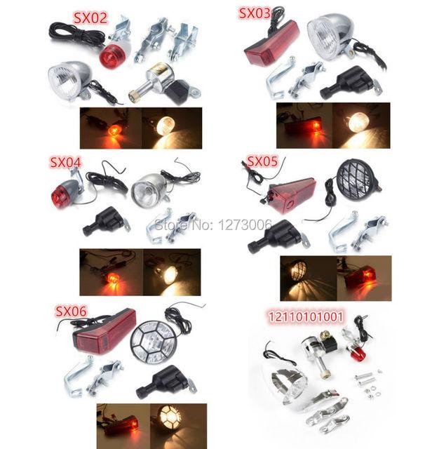 6 V 3 W SX02/SX03/SX04/SX05/SX06 Generador de Fricción para Bicicleta Motorizada Dynar LED Cabeza y Cola De luz Kit de Ret