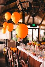 METABLE 100PCS 12/10 Inch Orange Solid Latex Balloons Premium Quality Bouquet for Rainbow Tropical Circus Birthday Party