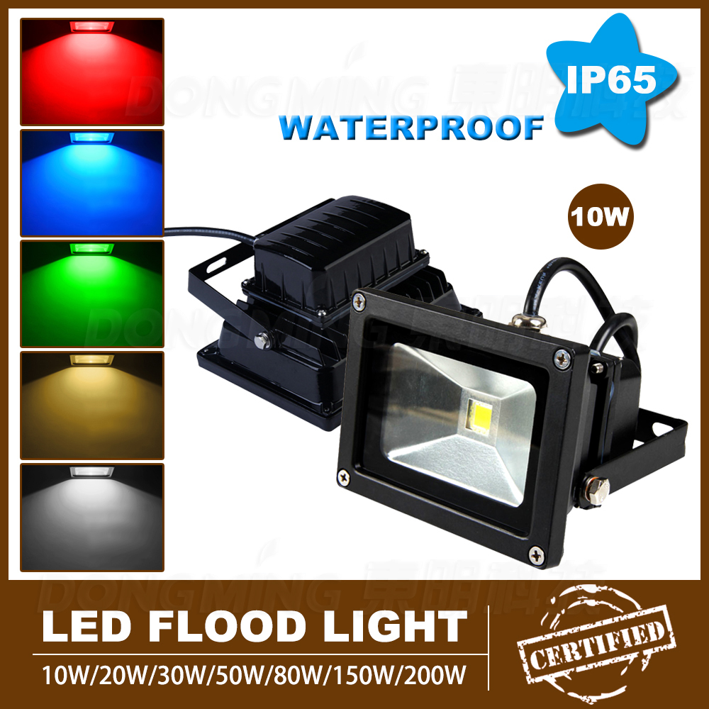 Quality Lowest Price 10pcs High Power Black Cover Rgb Led Flood Light Bulb Cool White Ip65 900lm Ac85-265v Portable 10w Led Spotlight Excellent In