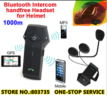 2pcs/Lot 1000 Meters Motorcycle Bluetooth Intercom Sport Headsets Skiing Helmets Intephone Talkie + NFC