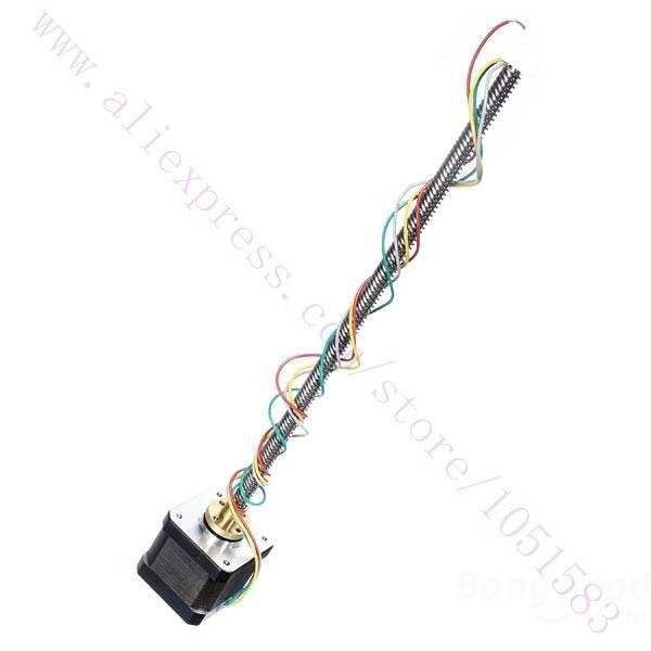 NEMA 17 Linear Stepper Motor + Lead Screw 300mm M8 Z axis 3D Printer CNC RepRap nema23 linear stepper w 310mm tr10 4 lead screw for 3d printer desktop straight screw motor