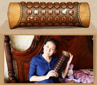 Jade germanium stone massage neck pillow improve the body's blood circulation of cervical vertebra of magnetic therapy and healt