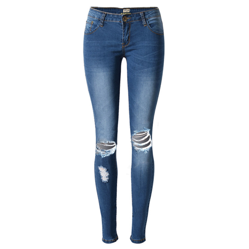 2016 Women Blue Jeans Summer Style Super Quality Lady Jeans Overalls Boyfriend Jeans For Women New