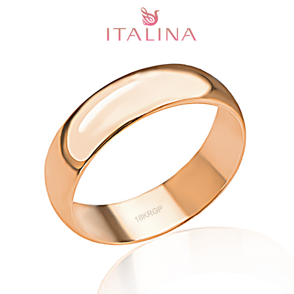 2016 New Italina Brand 3  125 Full Size 18k Rose Gold Plated Jewelry  Children Anel Masculino Men Women Engagement Rings Couple